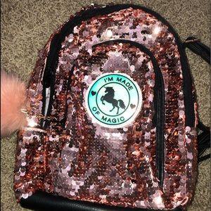 a  sparkling backpack
